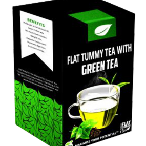 Flat tummy tea with green tea